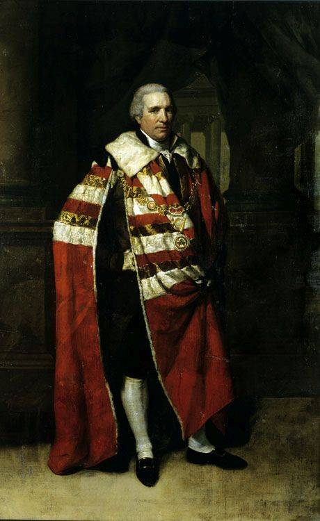 This portrait shows Charles Tottenham, Earl of Ely in fashionable 'swagger pose', and was painted by Hugh Douglas Hamilton. It is in the collection at Rathfarnham Castle. The image is copyright National Monuments Service Photographic Unit.