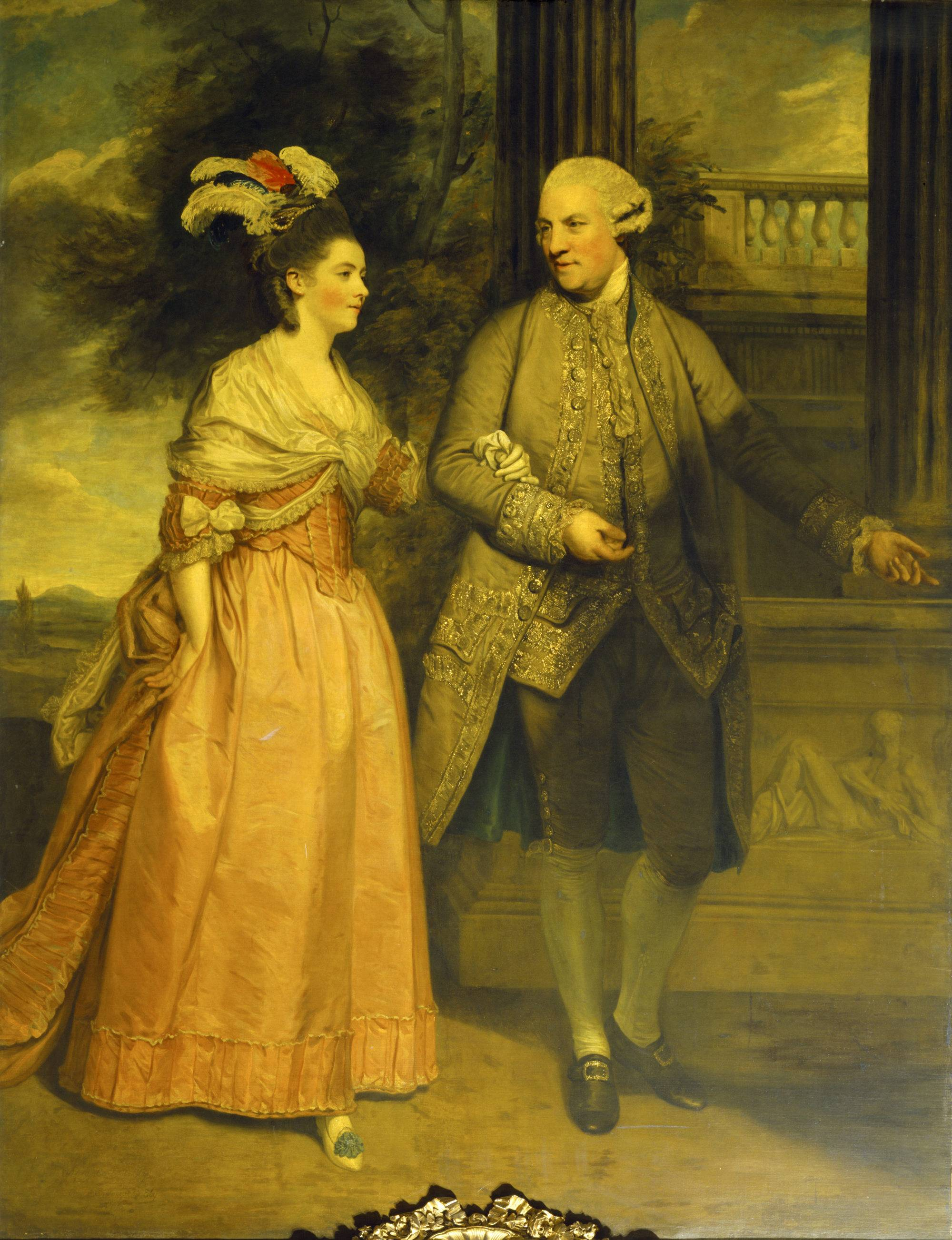 Henry Loftus, 1st Earl of Ely (1709-1783) and his wife Frances Monroe, Countess of Ely (d.1821), in c. 1775, by Sir Joshua Reynold. Oil painting on canvas. © National Trust/Angelo Horne.