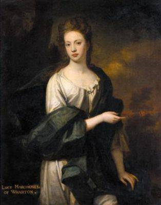 This portrait of 'Lucy, Marchioness of Wharton' is by Sir Godfrey Kneller, and is now in a private collection .
