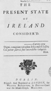 The Present State of Ireland Consider'd